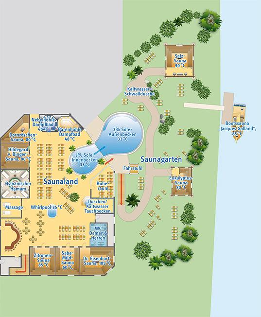 Lageplan der Wesertherme Karlshafen